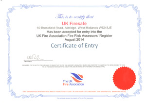 UKFA - Fire Risk Assessment Certificate